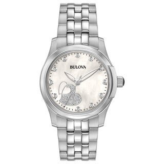 Bulova Ladies' Stainless Steel Diamond Watch 96P182