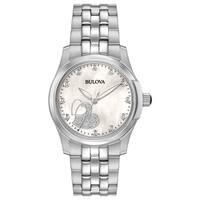 Bulova Ladies' Stainless Steel Diamond Watch 96P182