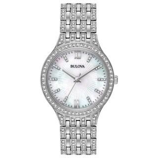 Bulova Ladies' Swarovski Element Crystal Stainless Steel Watch 96L242