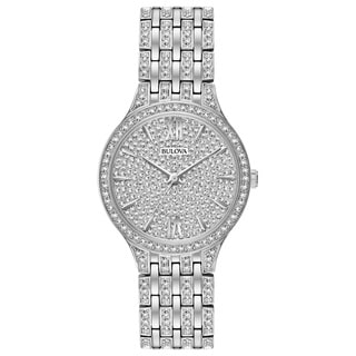 Bulova Women's 96L243 Stainless Steel Swarovski Element Crystal Watch