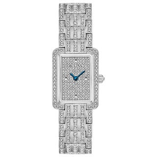 Bulova Ladies' Swarovski Element Crystal Stainless Steel Watch 96L244