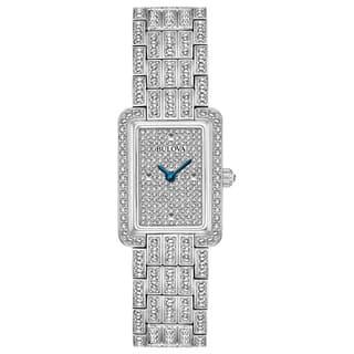 Bulova Ladies' Swarovski Element Crystal Stainless Steel Watch 96L244|https://ak1.ostkcdn.com/images/products/15951874/P22351092.jpg?impolicy=medium