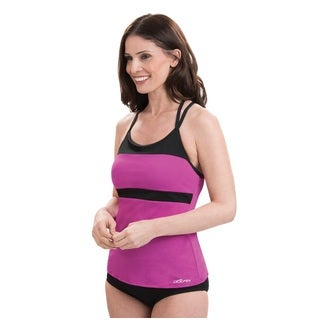 Dolfin Aquashape T-Strap Purple and Black Tankini Top