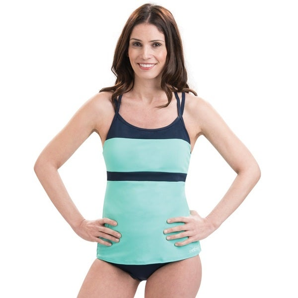Dolfin Aquashape T-Strap Mint and Navy Tankini Top