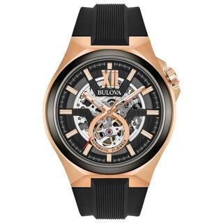 Bulova Men's Automatic Strap Watch 98A177