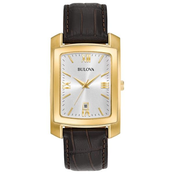 a885b1377 Shop Bulova Men's Strap Watch - Free Shipping Today - Overstock ...