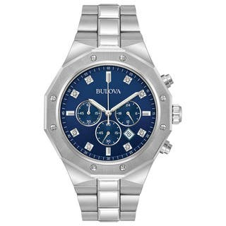 Bulova Men's Stainless Steel Chronograph Diamond Watch 96D138|https://ak1.ostkcdn.com/images/products/15951973/P22351133.jpg?impolicy=medium