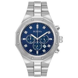 Bulova Men's Stainless Steel Chronograph Diamond Watch 96D138