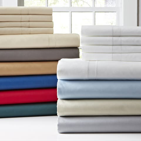 Pointehaven 620 Thread Count 6-piece Oversized Long Staple Cotton Extra Deep Pocket Sheet Set