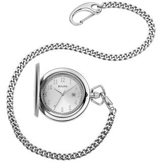 Bulova 96B270 Men's Classic Stainless Steel Pocket Watch