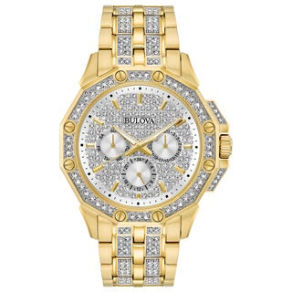 Bulova Men's Swarovski Crystal Diamond Watch 98C126