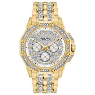 Bulova Men's Swarovski Crystal Elements Diamond Watch 98C126