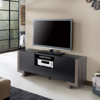 Furniture of America Calebe Modern Multi-storage Weathered Grey/Black 64-inch TV Stand