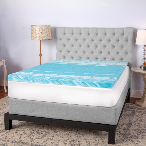 SwissLux 2-inch Swirl Gel Memory Foam Mattress Topper