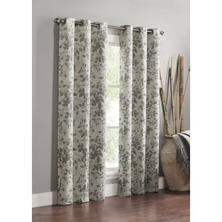 VCNY Home Rye Leaf Blackout Curtain Panel