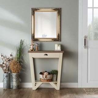 Furniture of America Shia Contemporary Two-tone Single-drawer Ivory and Light Oak Console Table