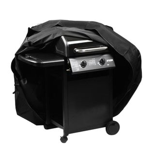 Waterproof BBQ Cover Black (56.6'' x 23.8'' x 45.6'')