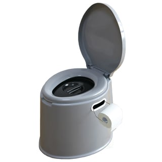Portable Travel Toilet For Camping and Hiking - Silver