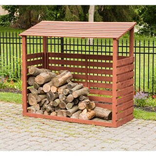 Brown Cedar Firewood Shed