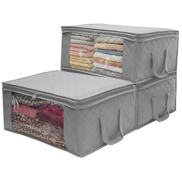 Exceptionnel Sorbus® Foldable Storage Bag Organizer Set, Great For Clothes, Blankets,  Closets,