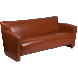 Chantilly Contemporary Cognac Leather Sofa