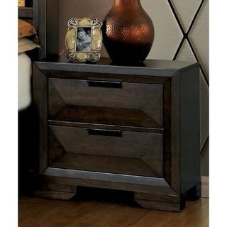 Furniture of America Gifa Transitional Espresso Solid Wood Nightstand
