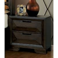 Furniture of America Angled Contemporary Espresso 2-drawer Nightstand