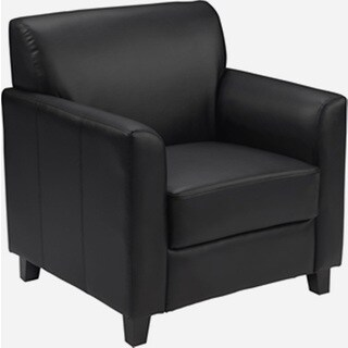 Benville Modern Black Leather Guest Chair