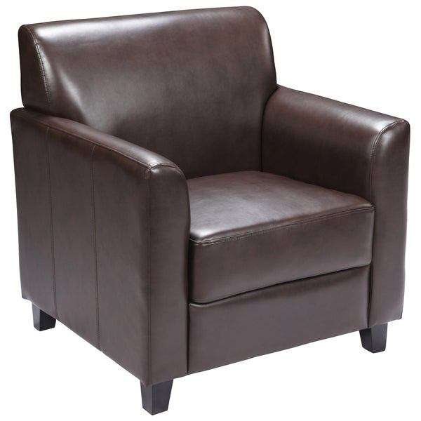 Benville Modern Brown Leather Guest Chair