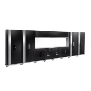 NewAge Products Performance 2.0 14-piece Garage Cabinet Set with Stainless Steel Worktop