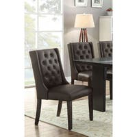 Kaisa Espresso Dining Chairs with Faux-leather Upholstery (Set of 4)
