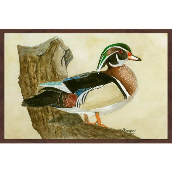 'Woodduck' Framed Painting Print