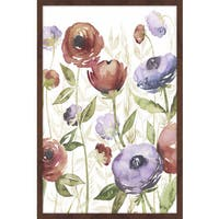 Jeweltoned Blossoms I' Framed Painting Print