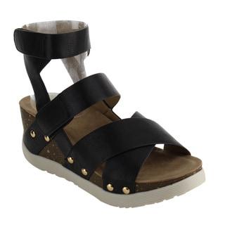 Nature Breeze FJ39 Women's Comfy Platform Wedge Heel Criss Cross Strap Sandals