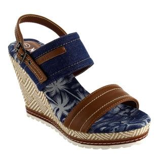 Nature Breeze FJ35 Women's Platform Wedge Heel Pattern Sling Back Sandals