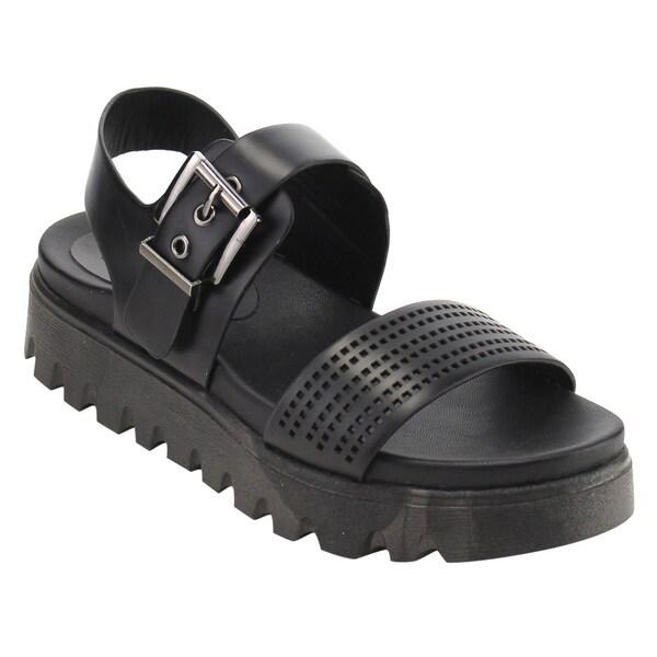 d3a3fc99f706 Nature Breeze FJ54 Women  x27 s Platform Wedge Heel Cut Out Sling Back  Sandals
