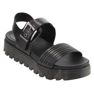Nature Breeze FJ54 Women's Platform Wedge Heel Cut Out Sling Back Sandals