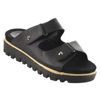 Nature Breeze FJ53 Women's Platform Wedge Heel Buckle Slip On Sandals