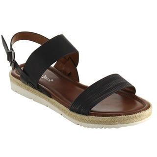 Nature Breeze FJ47 Women's Comfortable Espadrilles Sling Back Dress Sandals