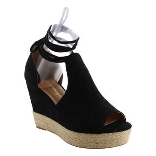 Reneeze AF76 Women's Espadrille Lace Up Platform Wedge Heel Sandals