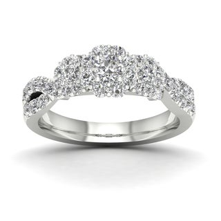 De Couer 1ct TDW Diamond Bypass Ring
