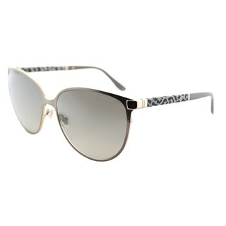 Jimmy Choo JC Posie J9E Light Brown Matte Metal Cat-eye Sunglasses With Gold Mirror Lens