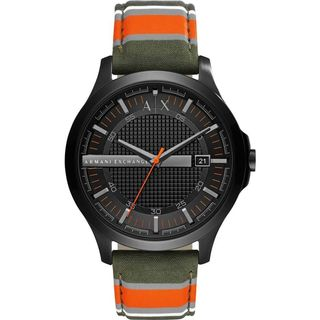 Armani Exchange Men's AX2198 'Dress' Green, Orange, Grey and White Fabric Watch