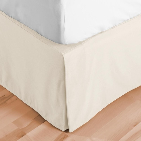 1800 Series Solid Bed Skirt 15-inch Tailored Drop Pleated Dust Ruffle