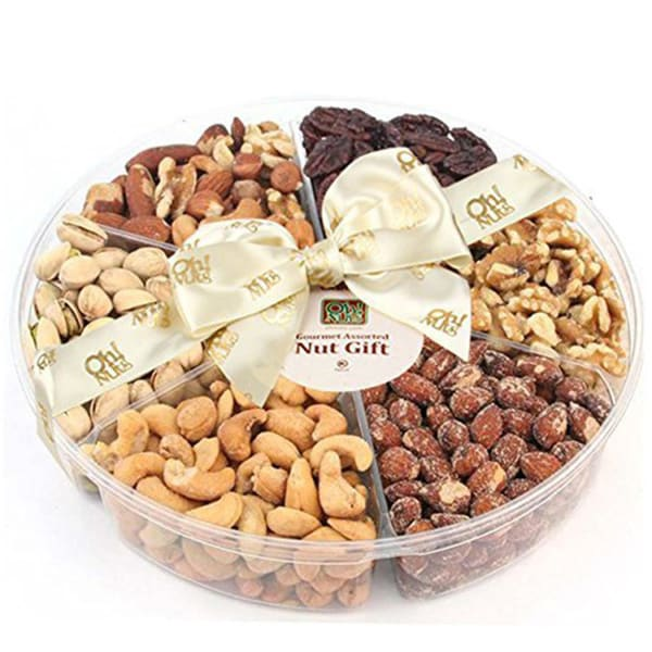 Shop 6 Section Assorted Nuts Gift Tray - 2 Pounds - Free ...