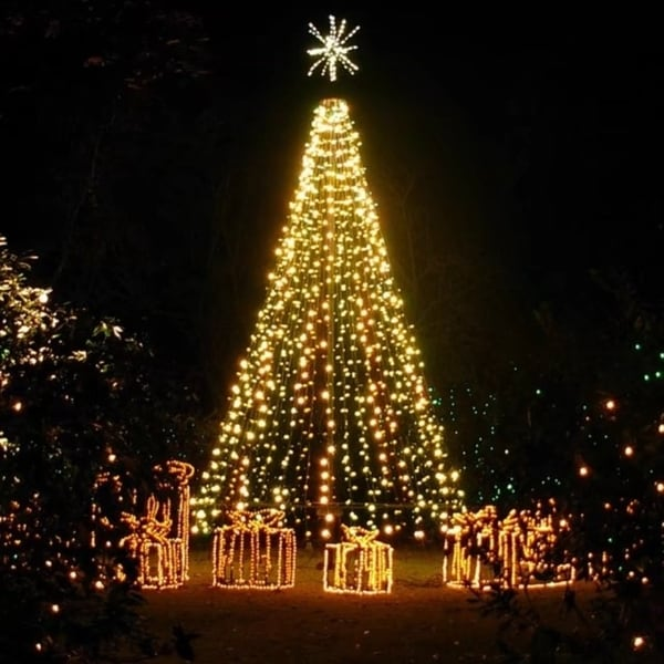 led solar powered string lights 100leds8 modes 33ft warm white free shipping on orders over 45