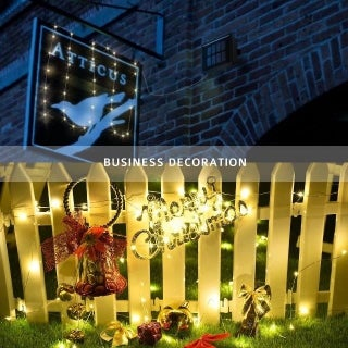 Two-Pack LED Solar Powered String Lights, 100LEDs,8 Modes, 33ft, Warm White (2 options available)