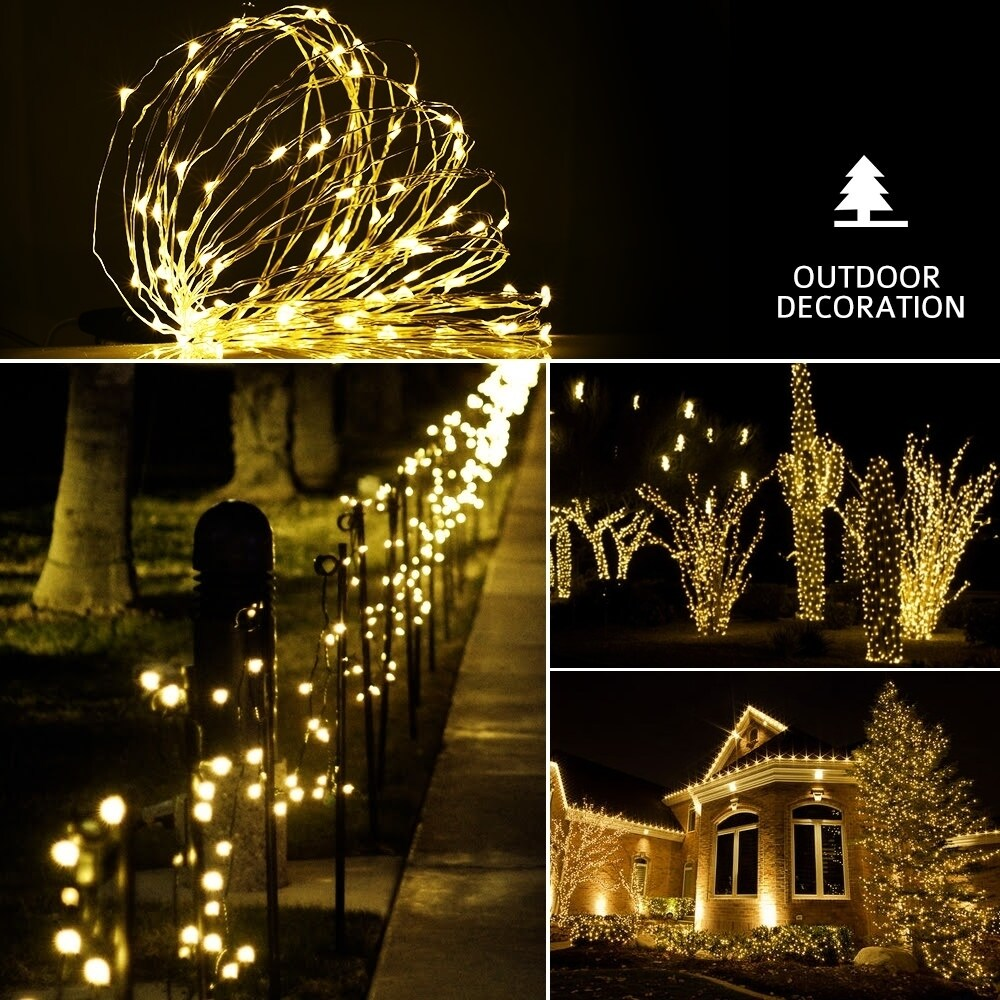 100 Led String Light Warm White Outdoor Decorative