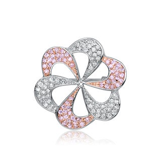 Collette Z Sterling Silver Cubic Zirconia Pinwheel Pin