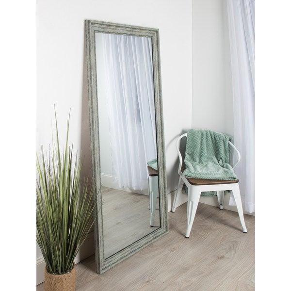 Turquoise Wall Mirror kate and laurel mckinley framed beveled wall mirror - free